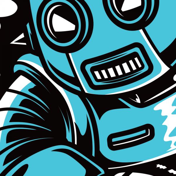 Robosuper Retro Robot T-Shirt
