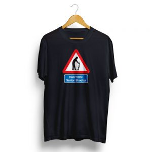 Senior Shooter Road Sign T-Shirt Black