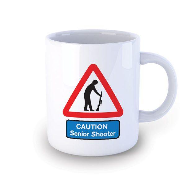 Caution Senior Shooter Funny Mug