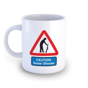 Caution Senior Shooter Funny Mug