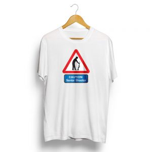 Senior Shooter Road Sign T-Shirt White