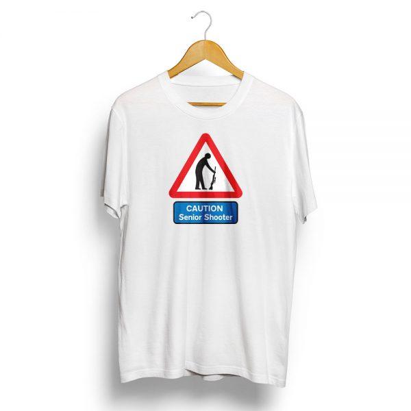 Senior Shooter Road Sign T-Shirt White