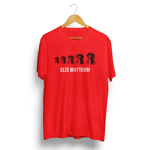 Size Matters Air Rifle T-Shirt Red