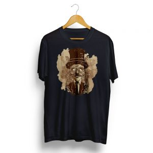 Steampunk Man Illiustration T-shirt