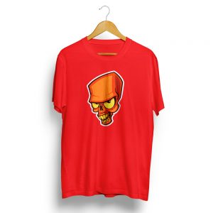 Crazy Skull Red T-Shirt