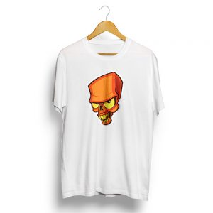 Crazy Skull White T-Shirt