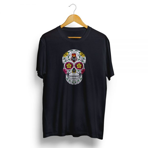 Dia De Muertos Day of the Dead Sugar Skull Black T-shirt