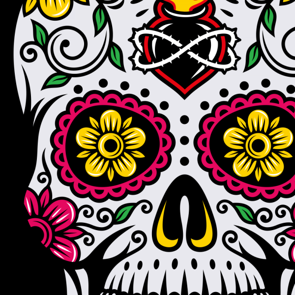 Dia De Muertos Day of the Dead Sugar Skull T-shirt