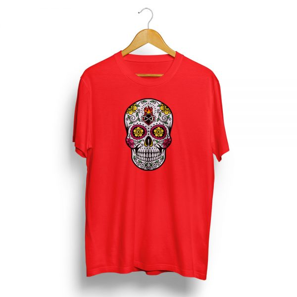 Dia De Muertos Day of the Dead Sugar Skull Red T-shirt