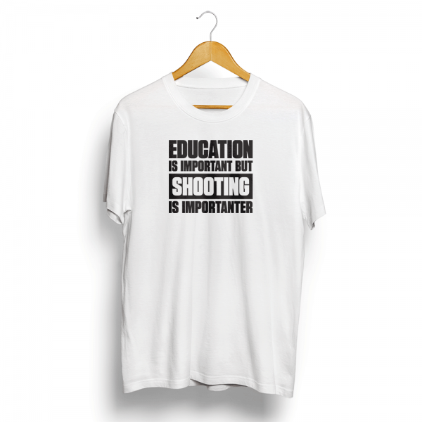 Shooting Is Importanter T-Shirt White