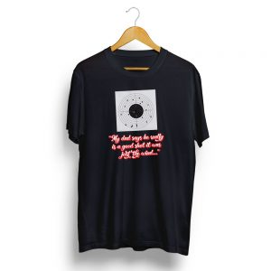 Dads a Good Shot T-Shirt Black