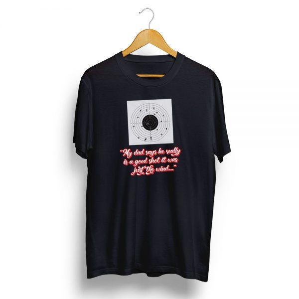 Dads a Good Shot T-Shirt Black