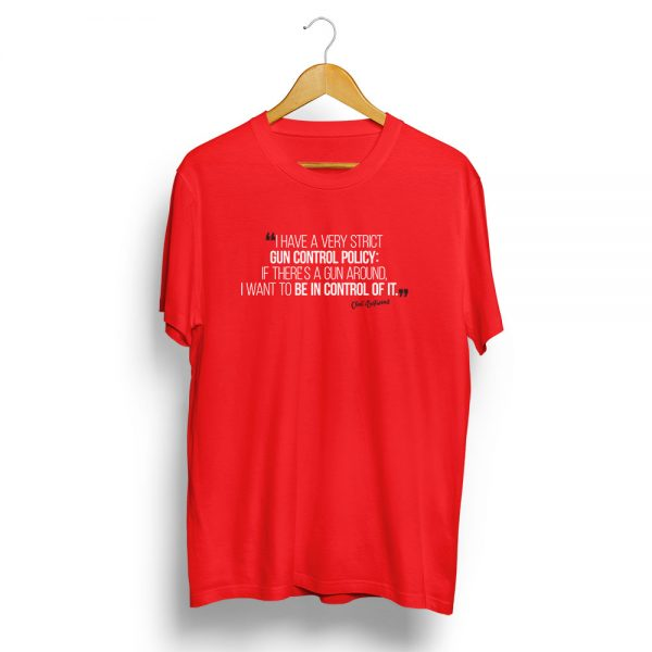 Gun Contol Policy Clint Eastwood T-Shirt Red