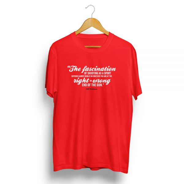 P-G-Wodehouse-Shooting-Quote-T-Shirt-Red
